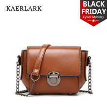 Kaerlark Brand New 2017 Limited Women Small Flap Messenger Bags Girl Solid Mini PU Leather Chains Shoulder Handbag WD0050 WD0375
