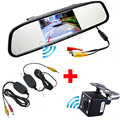 Auto 4.3 Inch TFT LCD Car Monitor Mirror Monitor With Night Vision Wireless Car Parking Camera Reverse Rear View Camera 4 LED