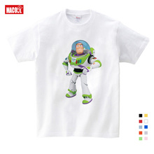 Child Anime T Shirt toy story camiseta white T-Shirt Cartoon Printed Tee Shirts for Boys/ Girls short cotton 3-12 years