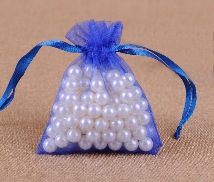 300 шт/партия 24 цвета большая сумочка для украшений из органзы 20x30 см сумка на шнурке Свадебные/вечерние украшения Подарочный мешочек для украшений упаковочная сумка - Цвет: Royal blue