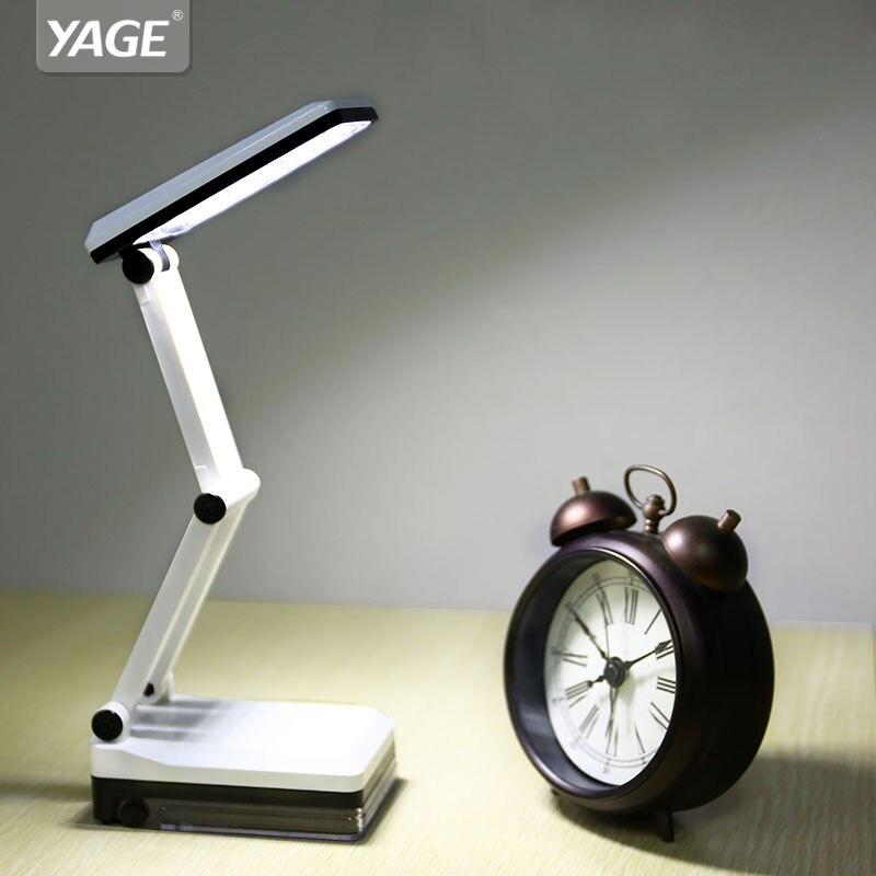led table lamp desk table light Foldable Built-in Rechargeable 600mAh Battery Mini Reading 16 LED Desk Lamp mini lampe YG-5908