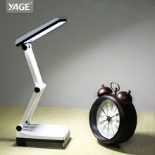 Lights Lighting - Indoor Lighting - Foldable And Adjustable Eyecare Built-in Rechargeable 600mAh Battery Mini Reading 16 LED Dimmable Desk /Table Lamp-YAGE 5908
