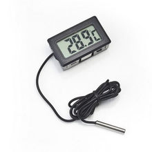 LCD Thermometer Temperature Digital for Bathroom water temperature Fridges Freezers Coolers Chillers Mini 1M Probe Black(China)