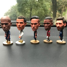 Car ornaments funny football characters star doll Messi Ronaldo Nei Marpe Bam ornaments car decoration цена