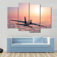 Modern Canvas Poster Frame Wall Art Home Decoration 4 Panel Plane Landscape For Living Room HD Print Painting Modular Pictures
