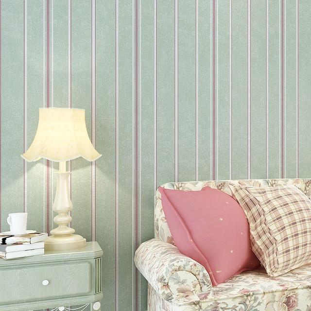 3D Fabric Mural Wallpaper Modern Striped Flock Wall Paper Papel De Parede  Tapete Bedroom/Living