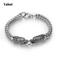 YaHui stainless steel bracelets for men silver faucet personalized bracelet charms friendship  high quality accessories