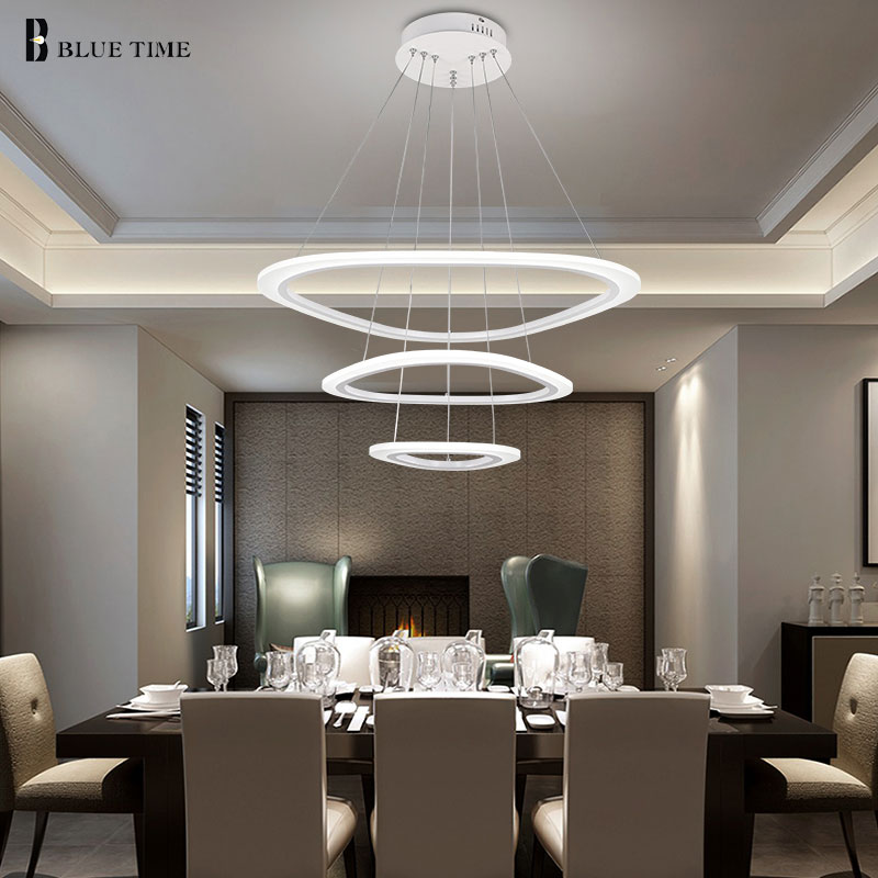 Modern Led Ceiling Light For Living Room Bedroom Dining Luminaire Rings Acrylic Hanging Lamp Lighting Fixtures In Lights From