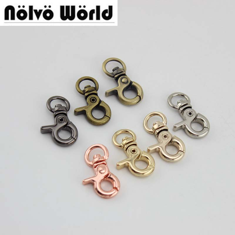 200pcs 7 Colors Accept Mixed,3*0.9cm 3/8 Inch Small Trigger Snap Hook Clasp Clip For Chain,swivel Dog Leash Bags Purse Buckles