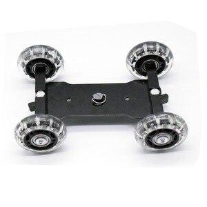 "Image 5 - Mobiele Rolling Sliding Dolly Stabilizer Skater Slider 11 ""Scharnierende Magic Arm Camera Rail Stand Fotografie Auto Voor Gopro 7 6"