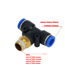 Free shipping PB Pneumatic fittings 6mm 8mm 10mm 12mm 4mm Hose Pipe to 1/8