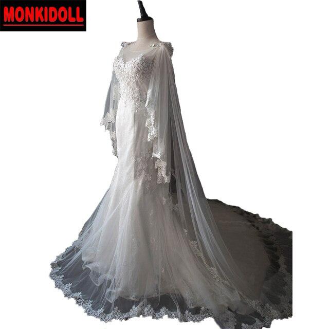 R 97121 Modernos Vestidos De Casamento De Luxo Sereia Vestidos De Casamento Com Jaqueta De Renda Ver Através De Vestido De Noiva Casamento 2019