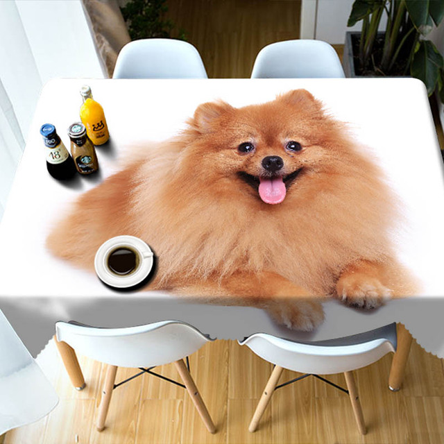 368bb2d8998b Meijuner New Arrival Dog Table Cloth Cute Gog Rabbit Printed 3D Customized  Tablecloth Table Cover for Home table Decor Dinosaur