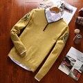 2016 Новый стиль мода мужская свитер марка одежды длинный свитер импортированы-одежда