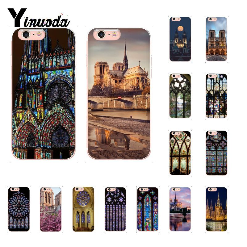 new style 471aa a5c93 US $0.74 50% OFF|Yinuoda Notre Dame Rose Window Clock Tower Cover Soft  Shell Phone Case for iPhone 5 5Sx 6 7 7plus 8 8Plus X XS MAX XR Fundas-in  ...