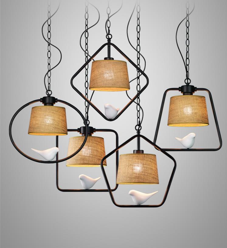 American restaurant designer single head bar creative personality lamp Nordic fat bird bird Pendant Lights LO7128 YM
