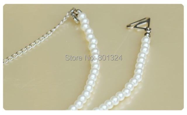 Bridal Wedding Prom Dress Faux Pearl Bra Straps 1 Pair White Free Shipping