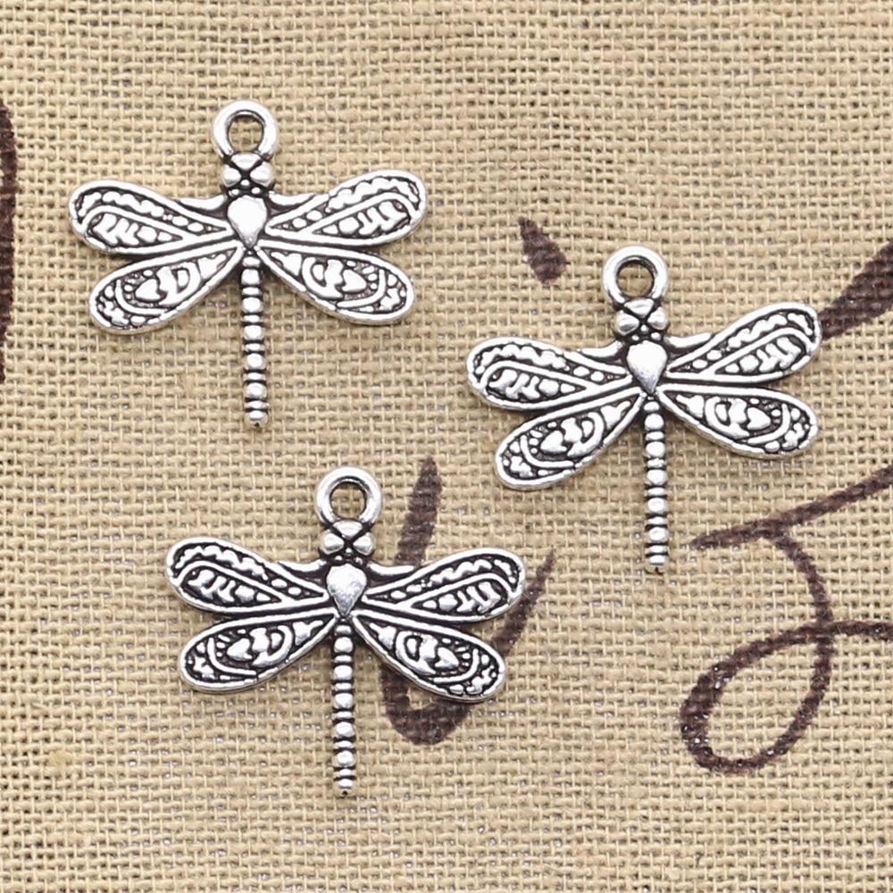 8pcs Charms dragonfly 21x19mm Antique Making pendant fit,Vintage Tibetan Bronze Silver,DIY bracelet necklace