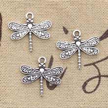 8pcs Charms dragonfly 21x19mm Antique Making pendant fit,Vintage Tibetan Bronze Silver,DIY bracelet necklace(China)