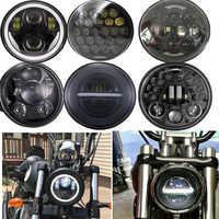 5,75 Led Scheinwerfer 5 3/4 Zoll projektor Moto Scheinwerfer für harley sportster Dyna, Softail, super Glide Motorrad Scheinwerfer DRL