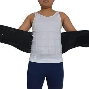 Image 5 - Y015 נשים גברים אלסטי מחוך בחזרה המותני Brace תמיכת חגורת אורטופדי היציבה חזור מותן חגורת תיקון בטן XXXL