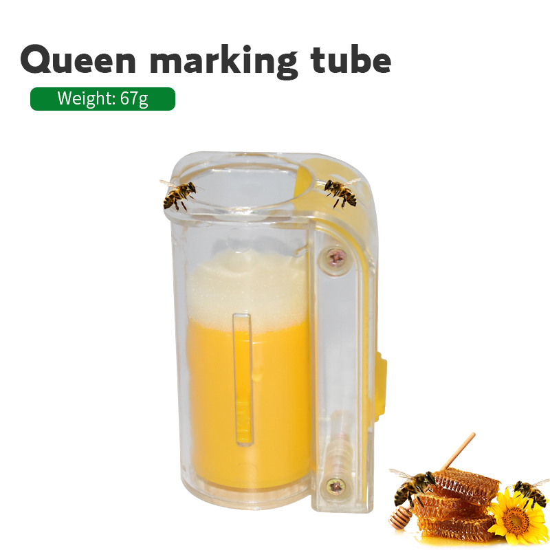 Garden Beekeeper Queen Bee Catcher Bee Queen Marking Catcher Plastic One Handed Marker Bottle Plunger Plush Beekeeper Tool