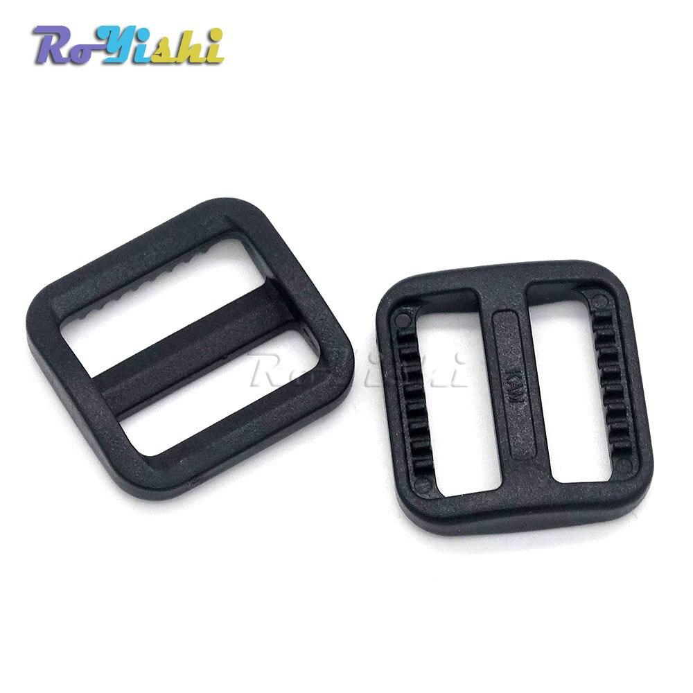 Boucles en plastique ajustables Tri glisse | Pour le harnais de collier de chien, boucles de sac à dos noires 100