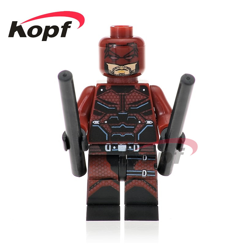Single Sale Super Heroes Daredevil Casillas Matt Murdoch Two Face Mini Dolls Bricks Building Blocks Toys for children Gift PG263 rising two dalit heroes