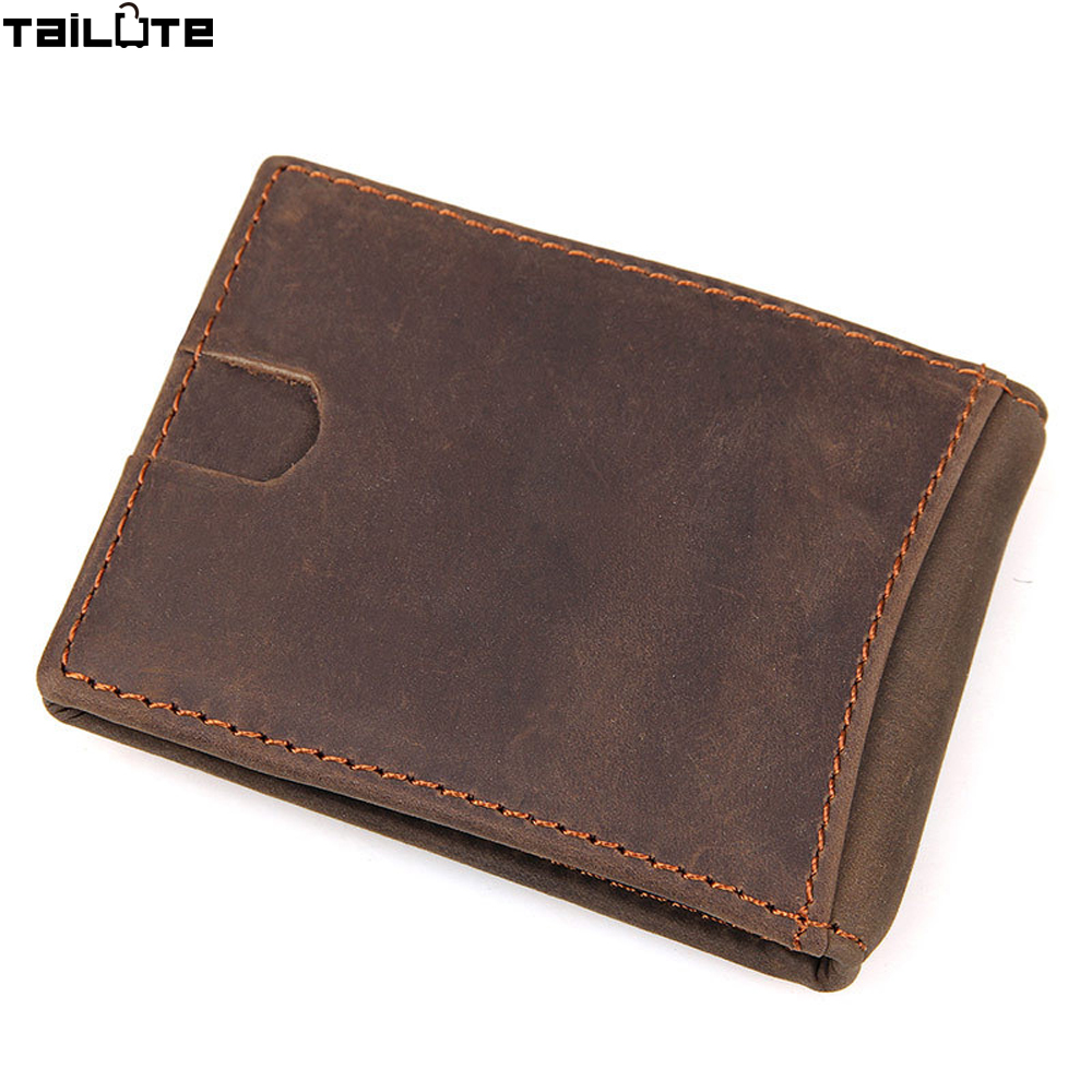 TAILUTE New Arrival Fashion 100% Genuine Leather Purses High Quality Business Men Wallets Casual Card Holders Vintage billetera new arrival men wallets 100