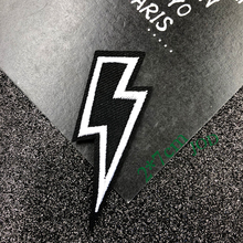 JOD* 2*7cm Lightning Iron on Embroidered Biker Patches for Clothing Decorative Patch Applique for Clothes Rock Punk Stickers DIY prajna van gogh patch military biker patch punk applique iron on embroidered patches for clothes stripes stickers on clothes diy