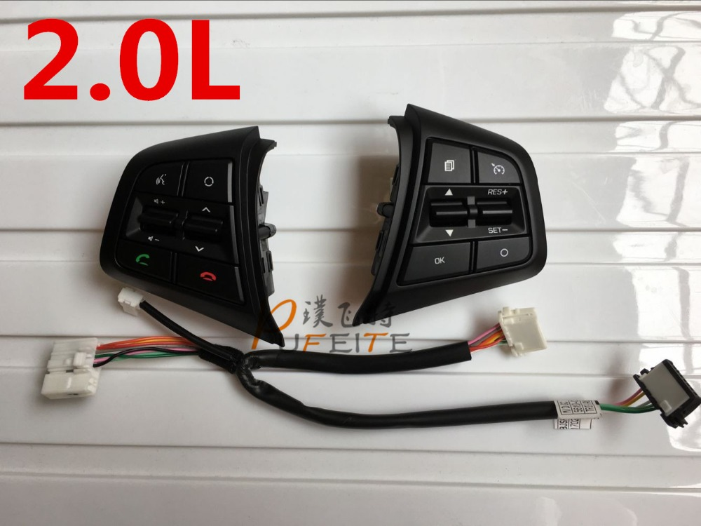 ФОТО High Quality For Hyundai ix25 ( Creta)2.0L steering wheel control buttons supervision panel button without clock spring