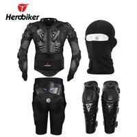 HEROBIKER Motorcycle Body Protection Motocross Racing Full Body Armor Gears Short Pants Motocycle Knee Pad Black