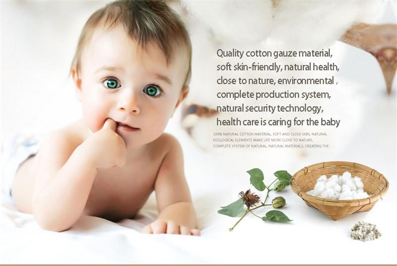 Square Cotton Cartoon Baby Bath (4-3)