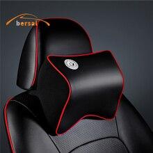 High quality Car Seat Soft PU Neck Pillow Headrest styling For Hyundai Mazda LADA BMW Toyota Audi Sline JMD Accessories