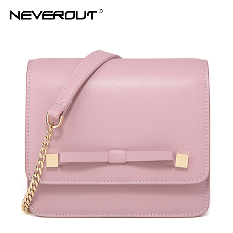 NeverOut Women Casual Petite Messenger Bags Candy Color Split Leather Shoulder Bags Lady Small Chain Sling Bags Inclined Satchel 2017 fashion all match retro split leather women bag top grade small shoulder bags multilayer mini chain women messenger bags