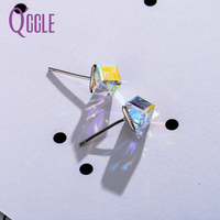 QGGLE Brand New Crystal From Swarovski Earring For Women Jewelry Charming Design Stud Earrings For Women