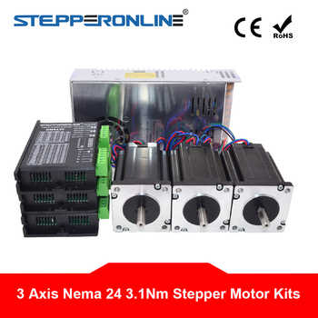 3 Axis CNC Kit 3.1Nm/439oz.in Nema 24 Stepper Motor Driver 3.5A CNC Mill Router Lathe Robot - DISCOUNT ITEM  0% OFF All Category