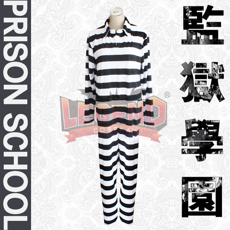 Cosplay legend Prison school Fujino kiyoshi jumpsuits cosplay adult costume full set