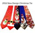 2016 Novo Design de Natal Gravatas dos homens Da Moda Amarrar 9.5 cm Estilo Helloween Festival Gravata Gravata Caráter Projetista Macio