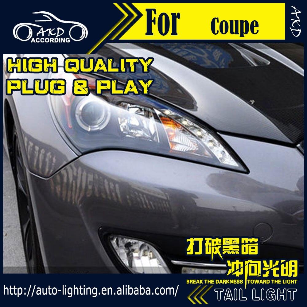 Lampe de tête de style de voiture AKD pour Hyundai Genesis coupé phares Rohens phare LED H7 D2H Hid Option ange Eye Bi faisceau xénon