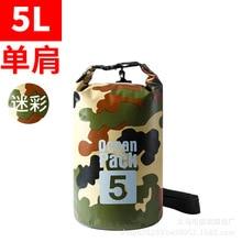 Sports de plein air sac seau étanche 20L camping plage PVC maille dérive sac étanche sac étanche personnalisé