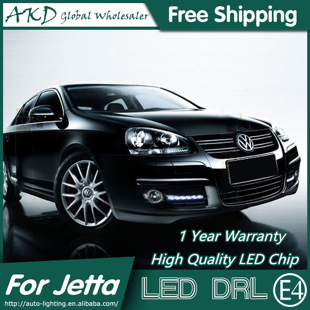 AKD Car Styling for VW Jetta LED DRL 2009-2011 Jetta Mk5 LED Daytime Running Light Fog Light Signal Parking Accessories for vw jetta 5 jetta mk5 2006 2007 2008 2009 2010 2011 new 9 led drl daytime running light fog light fog lamp