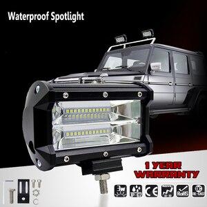 Image 3 - 2018 nouveau 5 pouces 72 W voiture Barra Led barre de lumière de travail tout terrain moto feux de brouillard projecteur pour bateaux ATV UTV SUV Jeep camion