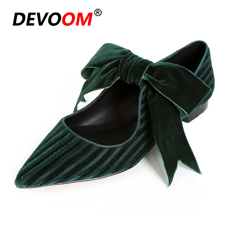<font><b>Womens</b></font> Casual Shoes Soft Summer Flats Chessures Femme Leather Shoes <font><b>Women</b></font> Slip on Shoes Flock Shoes <font><b>Women</b></font> Butterfly Heels image