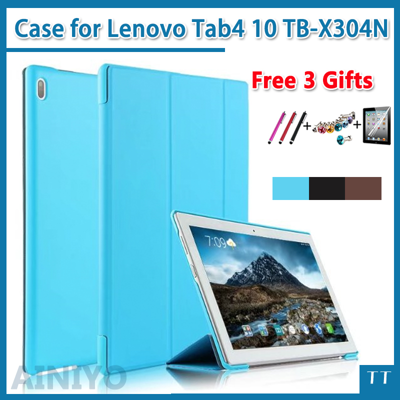 Ultra thin Case For Lenovo TAB 4 10 Protective cover for lenovo tab410 Tab4 10 TB-X304F N Case 10.1(2017 release)+gift sldpj stylish ultra thin protective pu leather case cover w visual window for iphone 4 4s red