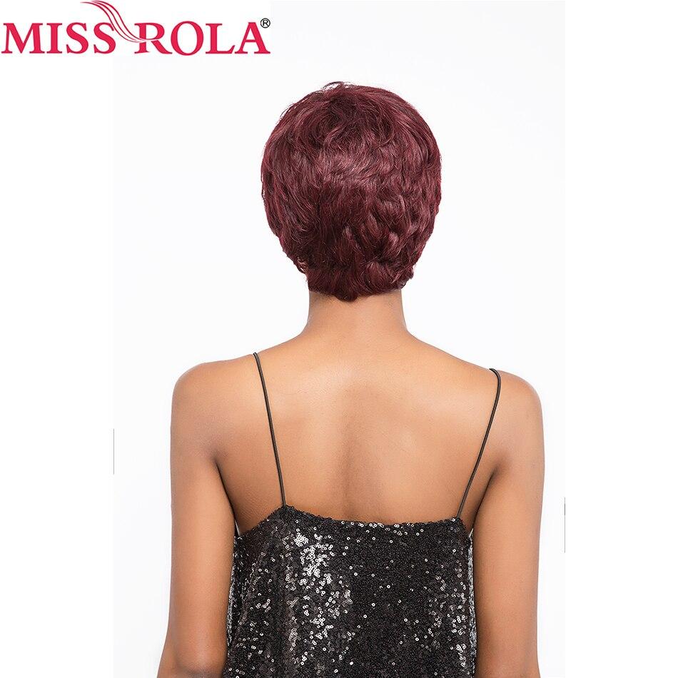 Miss Rola włosy Brazylijskie proste włosy Krótkie włosy ludzkie - Włosy ludzkie (na czarno) - Zdjęcie 2