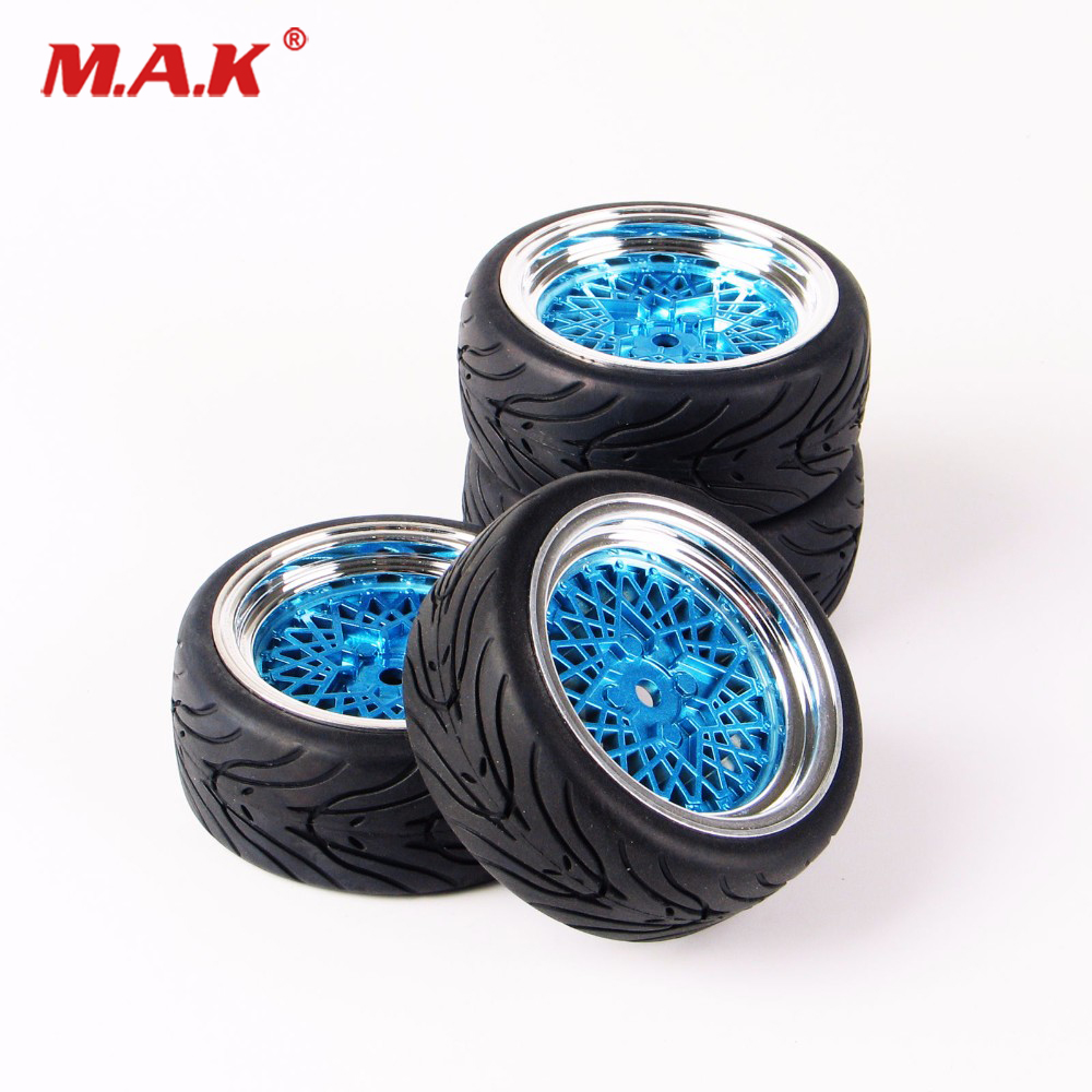 4Pcs/Set 12mm Hex Flat Rubber Tires and Wheel fit 1/10 RC HSP HPI On Road Racing Car Accessories 10365+<font><b>21006</b></font> image