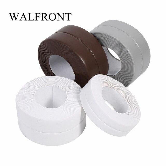 Cinta de sellado de pared de baño de PVC de 1 rollo cinta autoadhesiva impermeable para fregadero de cocina cinta de sellado de borde de lavabo de cuatro colores opcional 3,2 M