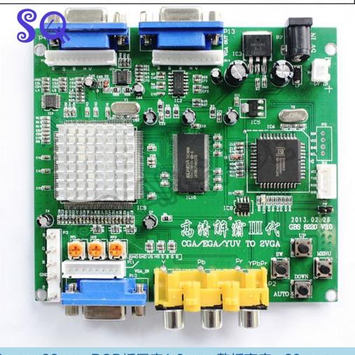 10pcs New RGB CGA EGA YUV to VGA HD Video Converter Board Moudle HD9800 GBS8200 Free