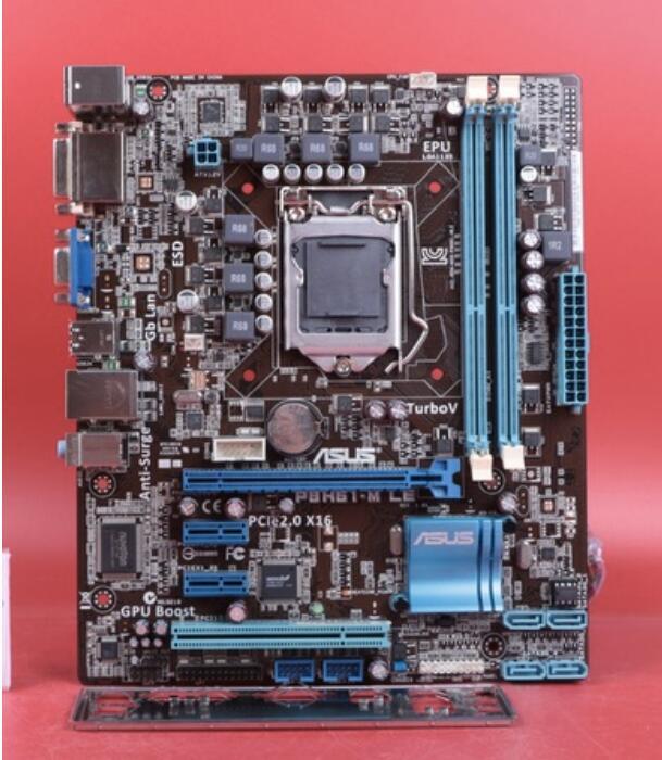 US $45 57 17% OFF|original motherboard ASUS P8H61 M LE Socket LGA 1155 DDR3  16GB support I3 I5 I7 uATX Integrated desktop motherboard-in Motherboards